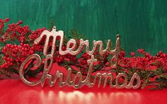 Golden Merry Christmas Wishes