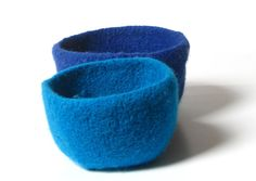 WOOLY FELTED BOWLS  two felted nesting bowls  by spellitwithPEAS, $24.00