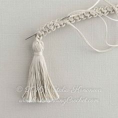 Outstanding Crochet: Free Crochet Tutorial - Romanian Cord Drawstring with Tassels.