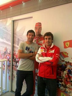 Mark Webber and Fernando Alonso