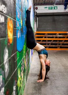 Wall supported handstand and backbend. This photo was taken in the hall way leading to Momentum Pole & Aerial in Gloucester. Handstand Progression, Ballet Shoes, Dance Shoes, Gloucester, Cool Photos, Ballet Flats, Dancing Shoes, Ballet Heels, Pointe Shoes