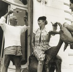 Jacques Henri Lartigue 'PICASSO A CANNES', 1955. Source: Sotheby's.com