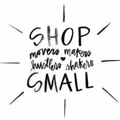 Today is Shop Small Saturday and I support it 100% and you should too! Tap the photo to see some of my favorite small shops.  by kate_paszkiewicz