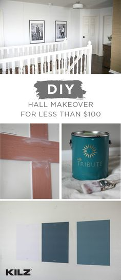 Interior paint without the commitment! KILZ Peel & Stick Paint Color Swatches let you test out different color palettes before starting a new home improvement project. Angela, from @unexpectede, used these self-adhesive, removable paint samples in her DIY budget hallway makeover to find the perfect shade for her home. What are you waiting for? Click here to order yours.