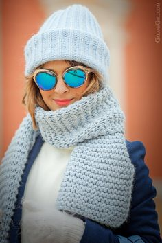 cutler and gross eyewear, cutler and gross sunglasses, galant girl, Cutler And Gross, Fashion Details, Knitted Hats, Winter Outfits, Fashion Accessories, Winter Hats, Street Style, Chic, Street Fashion