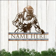 Personalized Welder Customized Text Cut Metal Sign - Cut Metal Sign Color- 1mm / Background / 12 X 12 inch