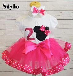 Check out this item in my Etsy shop https://www.etsy.com/listing/457372294/minnie-mouse-birthday-outfitfree