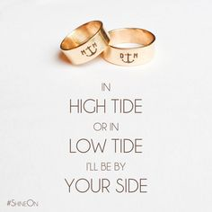 Women's and Men's Handmade Anchor Initial Ring by Designed To Shine #ShineOn