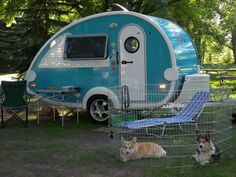 This will be my life. They even have corgis. It is ridiculous how much a want a camper right now.