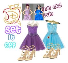 """Mal and Evie: Coronation dresses"" by rosiemermaid on Polyvore featuring Anoushka G, Charline De Luca and Monsoon"