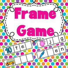 This FRAME GAME includes a pack of 50 word frames which are missing the beginning, middle or end sounds. There are also blank frames where students construct the entire word. It is a great addition to literacy centers and enables students to learn their Kindergarten Language Arts, Kindergarten Literacy, Preschool, Literacy Stations, Literacy Centers, Teaching Reading, Fun Learning, Learning Spanish, Reading Centers
