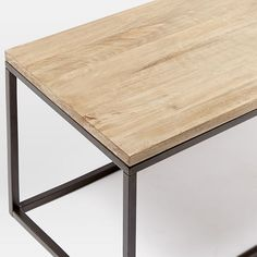 Box Frame Coffee Table - Wood/Antique Bronze | west elm