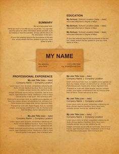 Organic Resume Template  Creative Resumes For Download