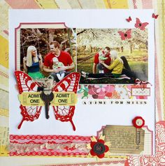 I have such a craft-crush on @Elizabeth Lockhart Lockhart Kartchner.  Love the colors in this layout...