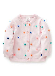 For the wedding....Cotton/Acrylic blend Cardigan. Crew neck with button through front. Features all-over multicoloured bow tassles. Regular fit. Available in colour shown.