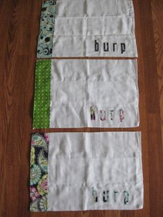 Burp Cloths made out of fabric diapers