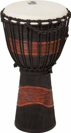 Toca Street Series Djembe Medium Black by Toca. $99.95. Toca's Street Series djembe makes a wonderful addition for any drummer who's looking to expand their musical creativity. This budget-friendly djembe is made of mahogany wood and is equipped with a hand selected head. Each drum is hand carved and beautifully painted, making each of them unique in its own way. Street Series djembes are available in small, medium, and large sizes.. Save 16% Off!