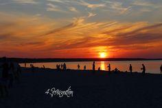 4 Freizeiten Ostsee Darß Prerow Sonnenuntergang
