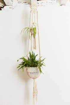 """CASCADIA""+Large+Double+Plant+Hanger Free Macrame Patterns, Plant Hanger, Wall Hangings, Knot, Plants, California, Home Decor, Pendants, Knots"