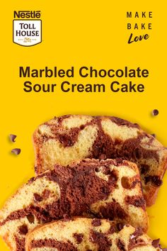 This luscious Marbled Chocolate Sour Cream Cake needs no frosting and almost no adornment -- the cake itself is its decoration with the colorful yellow and brow Sour Cream Chocolate Cake, Sour Cream Cake, Melted Chocolate, Chocolate Lasagna, Carrot Recipes, Pork Recipes, Cooking Recipes, Onion Recipes, Cauliflower Recipes