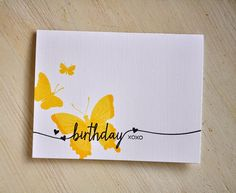 Birthday Butterfly Card by Maile Belles for Papertrey Ink (February 2015)