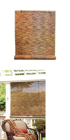 Blinds And Shades 20585 Bamboo Reed Blinds Indoor Outdoor Roll Up