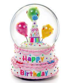 Love this Happy Birthday Water Globe on #zulily! #zulilyfinds