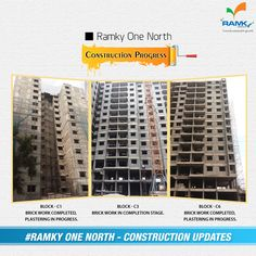 #‎Construction‬ ‪#‎Update‬ Feeling extremely happy to update ‪#‎Ramky‬ One North #Construction progress. Committed to Commitment & Promising the Best Quality  To know more Visit – www.ramkyestates.com