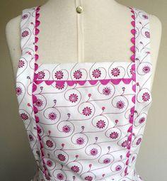 Avental forrado, produzido em tecido 100% algodão. Jardin de Fil
