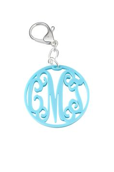 Personalized Monogram Acrylic Key Chain/ by MonogramCollection, $16.00 Back to School Monogram dorm room key ring