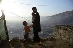 Daily Life in Afghanistan. Is that a electric line or a zip line? That's an amazing view.