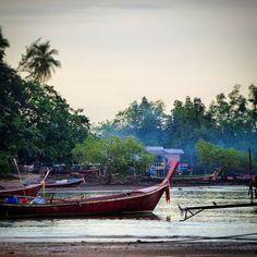 Longtail boats on Ko Muk #longtail #boat #longtailboat #ko #muk #komuk #koh #mook #kohmook #thailand #island #smoke #lonely #travel #planning #startup #exploya #inspiration