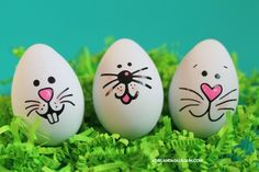 - A girl and a glue gun projects crafts crafts crafts crafts Easter Egg Designs, Bunny Face, Rock Painting Designs, Coloring Easter Eggs, Diy Easter Decorations, Egg Art, Easter Crafts For Kids, Bunny Crafts, Egg Decorating