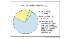 Why I'm wearing headphones.