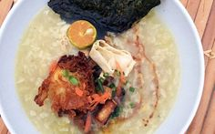 <p>Congee is the name of a type of rice porridge that's popular in East Asian countries. Lugaw, a Filipino congee traditionally made with rice, is plain on its own, but festive with various toppings and condiments.</p>