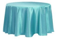 """Satin 120"""" Round Tablecloth - Dark Turquoise ● As Low as $9.99"""