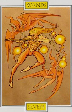 The Seven of Wands