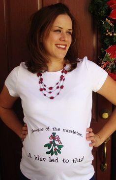 Christmas Maternity Beware of the Mistletoe shirt