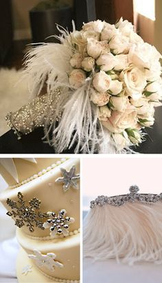 clever use of pins/brooches - snowflake brooches could be used in a lot of interesting ways.
