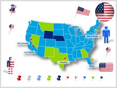 15 Best Editable US Maps in Powerpoint | Slidebooks.com images | Map ...