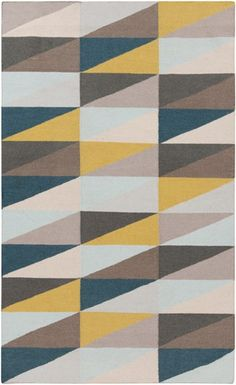 @rosenberryrooms is offering $20 OFF your purchase! Share the news and save!  Frontier Triangle Flat Weave Rug in Mustard and Taupe #rosenberryrooms