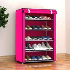 Storage Shoe Rack Hallway Cabinet Organizer Holder Layers Home DIY Shelves Shoe Shelf Diy, Shoe Rack With Shelf, Shoe Storage Cabinet, Rack Shelf, Closet Storage, Storage Shelves, Cube Storage, Diy Storage, Storage Ideas