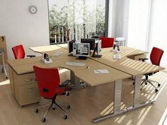 mesas de trabajadores