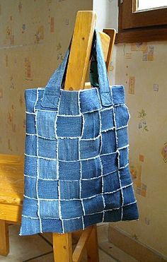 Woven Recycled denim tote bag tutorial