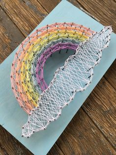 MADE TO ORDER Rainbow String Art Sign by CreationsFromBlondie