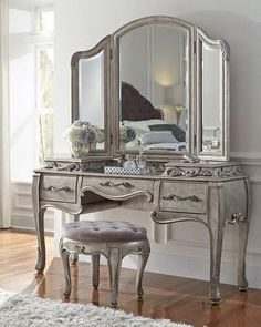 Shop Bella Terra Vanity Stool at Horchow, where you'll find new lower shipping on hundreds of home furnishings and gifts. Pulaski Furniture, Bedroom Furniture, Home Furniture, Bedroom Decor, Furniture Online, Bedroom Dressers, Gray Bedroom, Bedroom Ideas, Liberty Furniture
