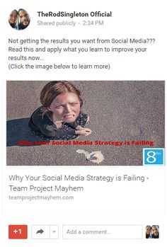Why Your Social Media Strategy is Failing - Team Project Mayhem Social Media Channels, Social Media Site, Social Networks, Social Marketing, Facebook Marketing, Read More, Knowing You, Fails, Improve Yourself
