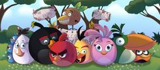 Birds with Angry Birds movie, only without wings and legs. .... Angry Birds (c) Rovio Fan art by Antixi