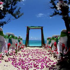 A beach wedding would be awesome!(: