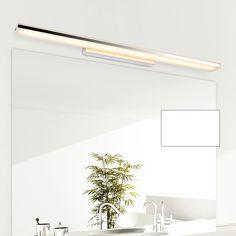 Modern 100cm long aluminum bathroom mirror light luminaria 85-265V 24W led home decor lamp over mirror | Industrial Home Decor | OliviaDecor.com